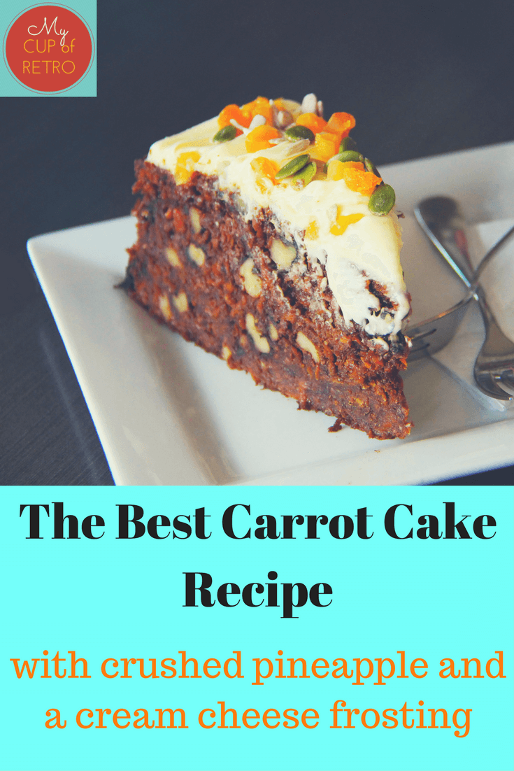 Carrot Cake With Crushed Pineapple And Cream Cheese Icing