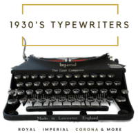 1930's Typewriters
