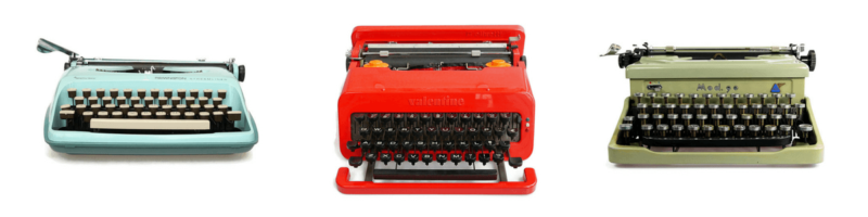 Olivetti Valentine typewriters for sale