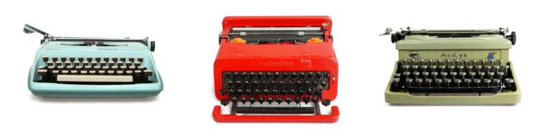 Olivetti Valentine typewriters for sale