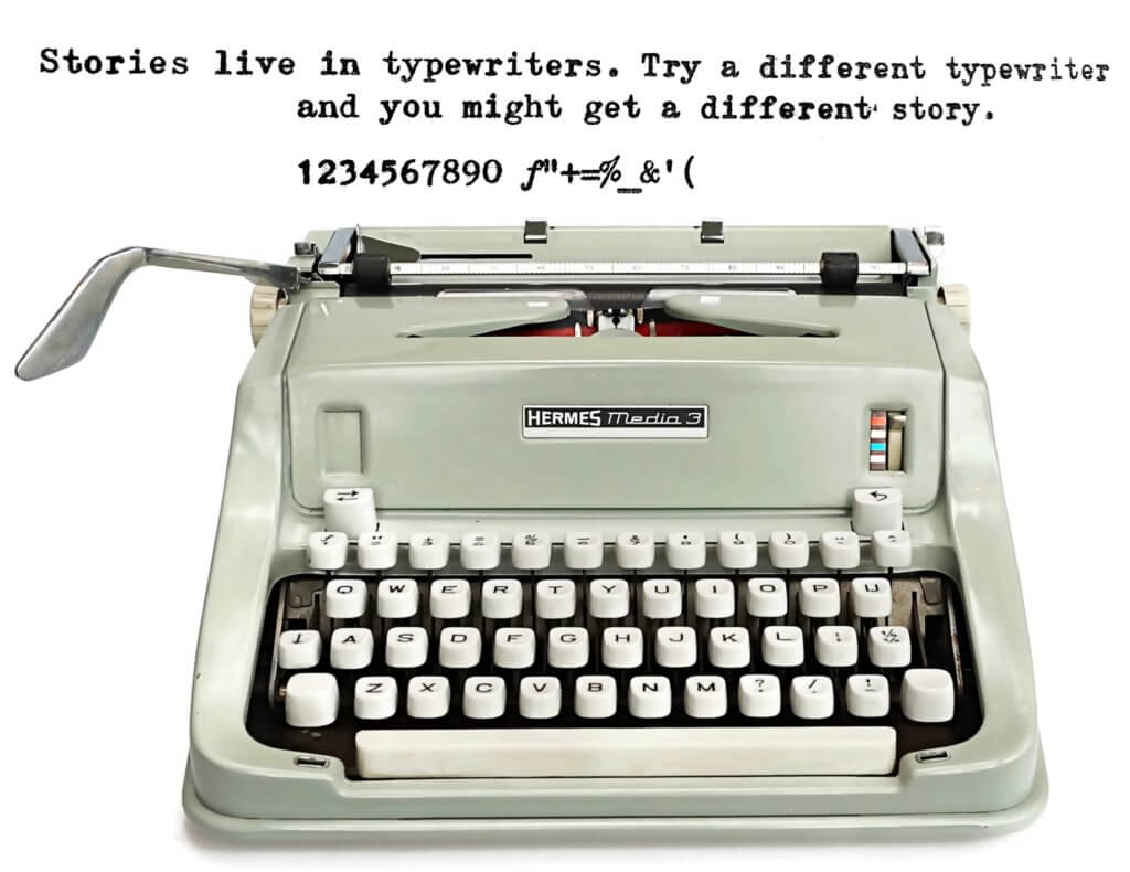 Typed on a Hermes Media 3 Typewriter