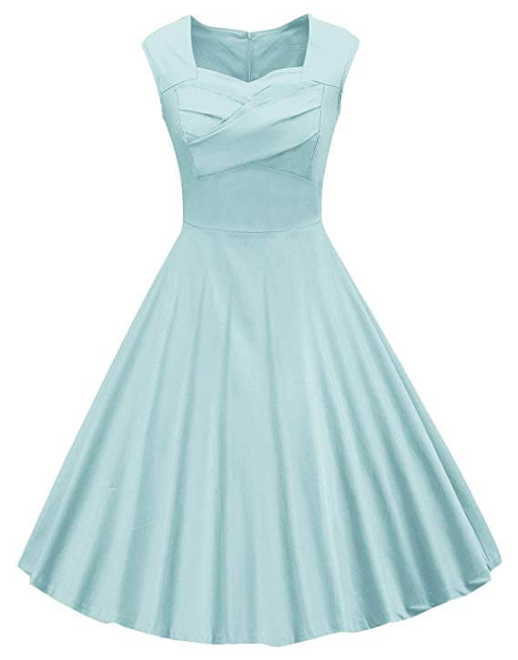 High tea party dresses in blue