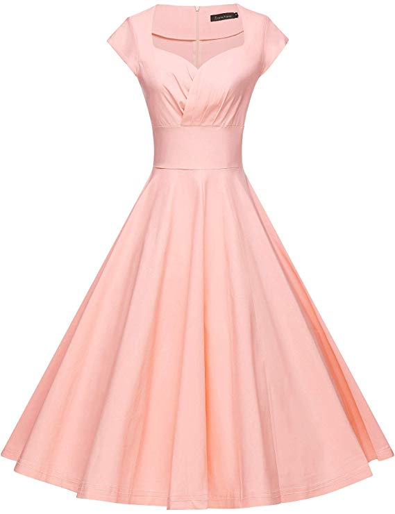 high tea party dresses in pink