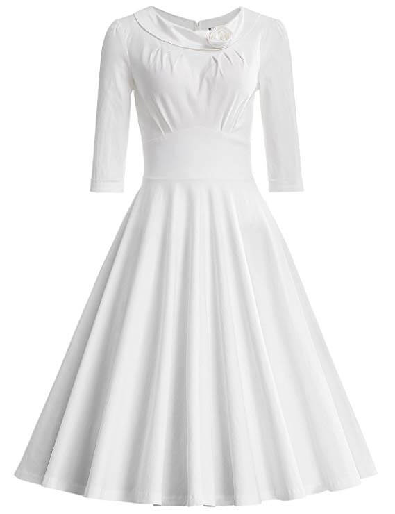 high tea party wedding dresses - classic modest dress