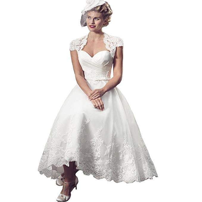 high tea party wedding dresses - with hat
