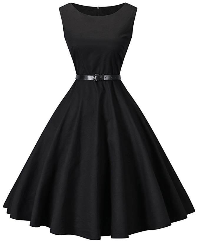 high tea party dresses in black