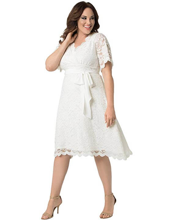 high tea party wedding dresses - plus size