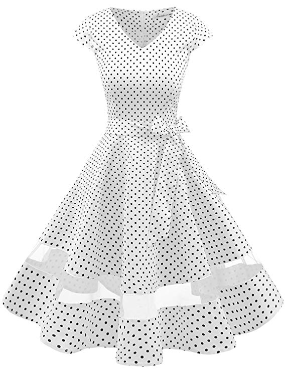 high tea party wedding dresses - polka dot
