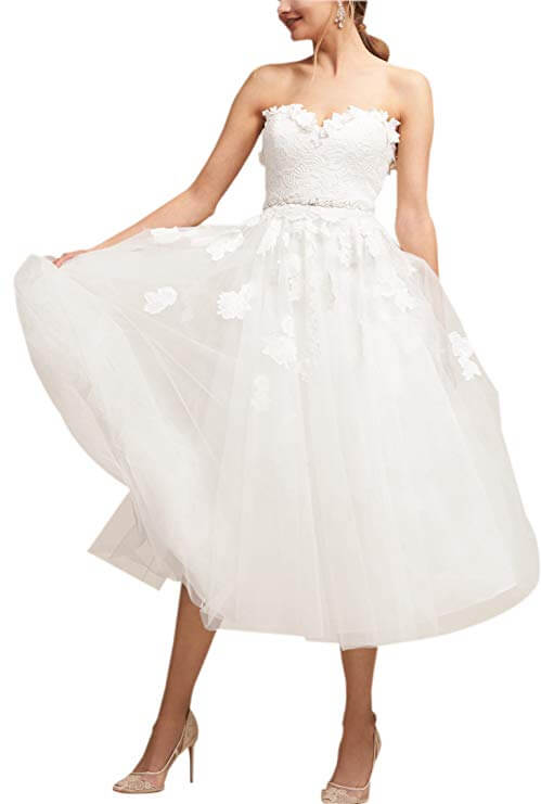 high tea party wedding dresses - floaty style