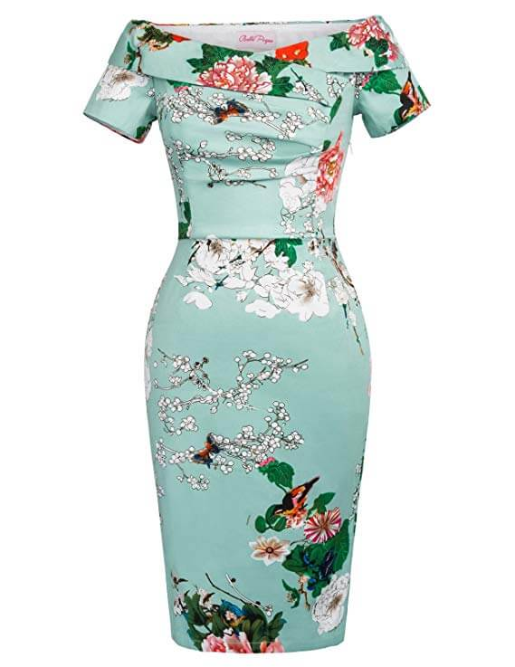 High tea party dress- wiggle dress style