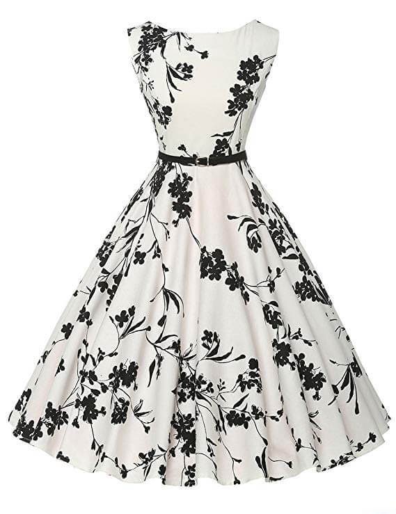 high tea party dresses in white
