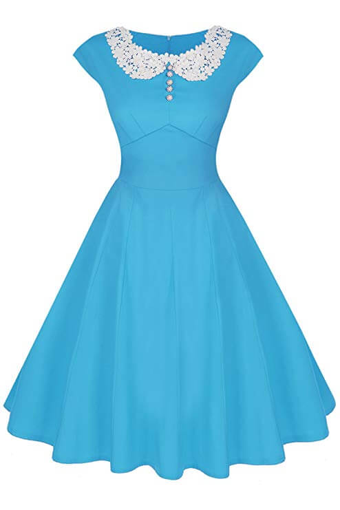 High tea party dresses classic baby blue