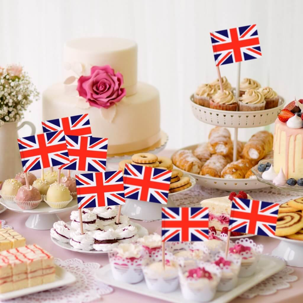 English high tea party - Cupcake toppers