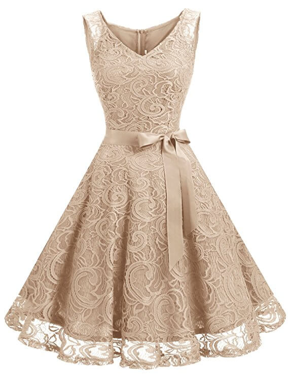 high tea party wedding dresses - lace