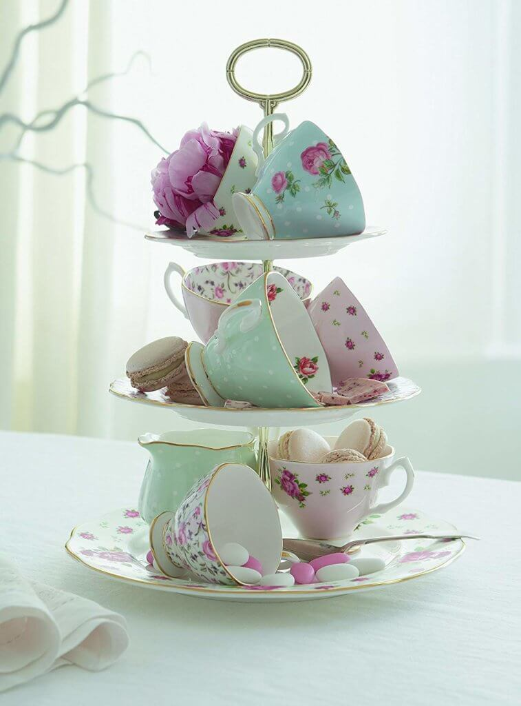 English high tea party teacups