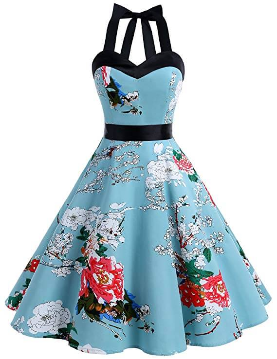 high tea party dresses halter neck