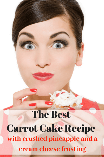 Carrot Cake Recipe with Crushed Pineapple and Cream Cheese Icing