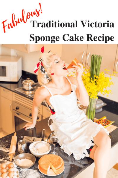 Vintage Victoria Sponge Cake