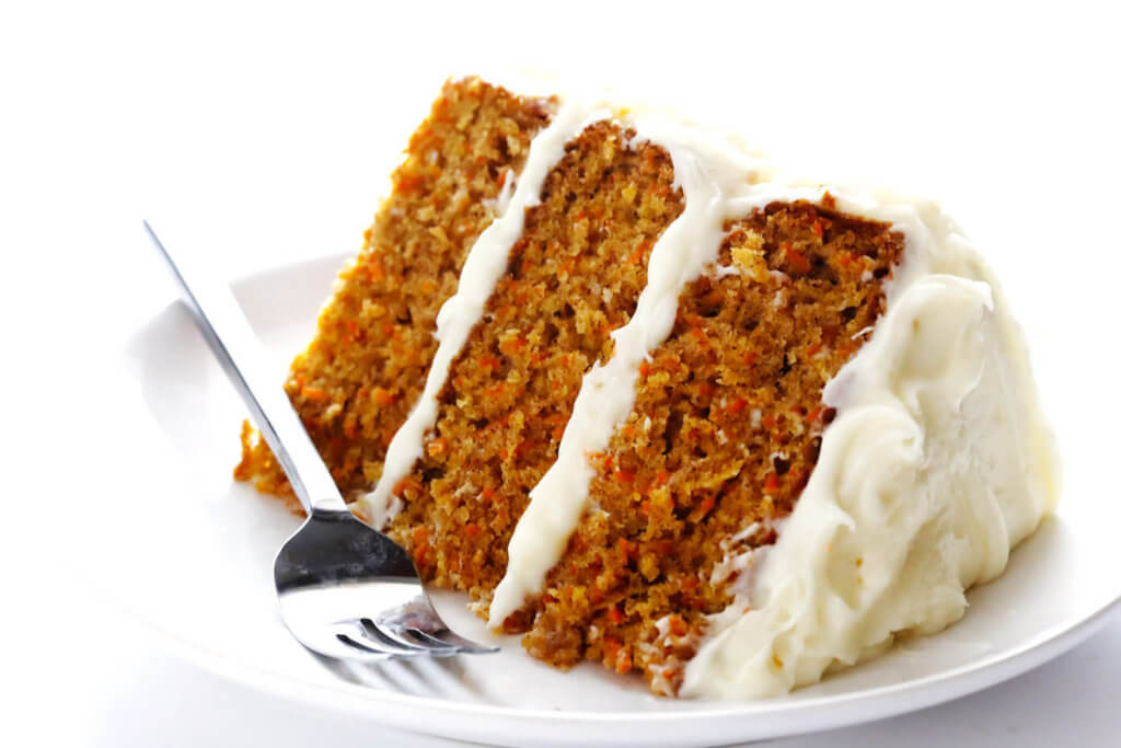 Carrot cake with crushed pineapple