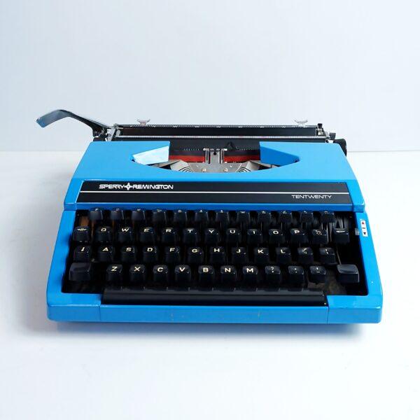 blue remington typewriter