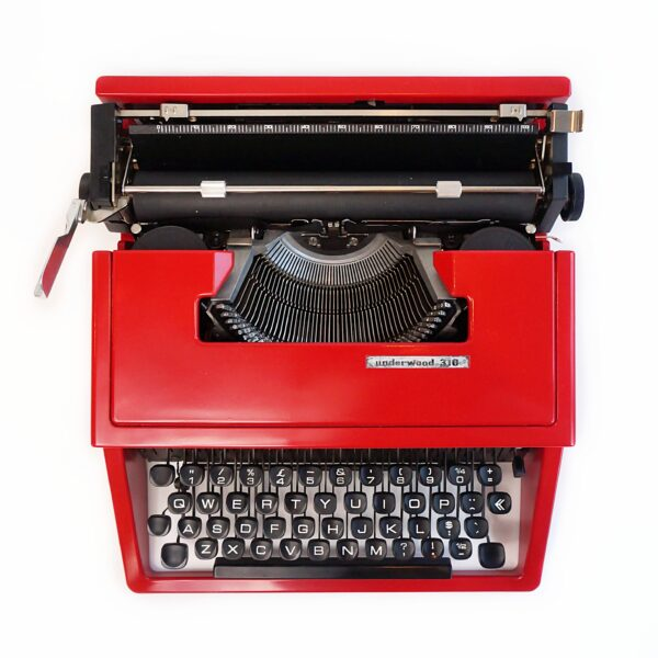 red typewriter
