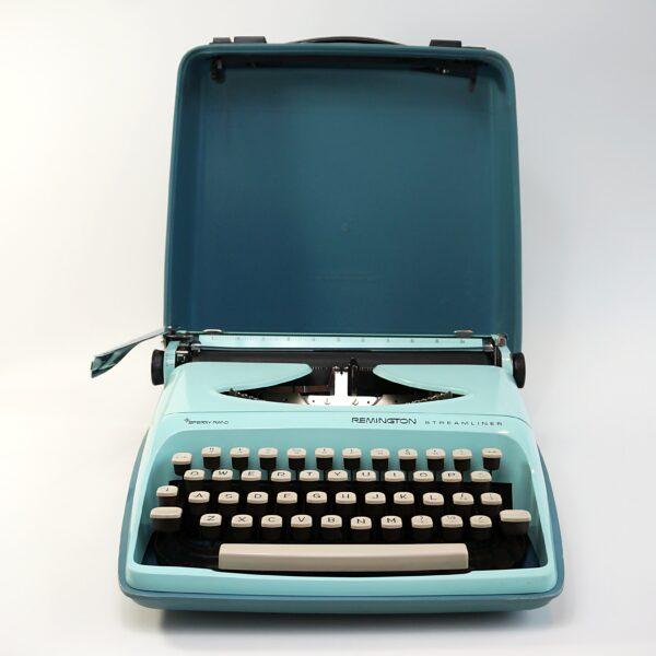 Blue Remington Streamliner Typewriter