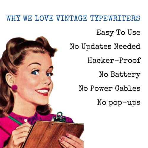 Typewriters For Writers – Why Typewriters Are Great For Writers
