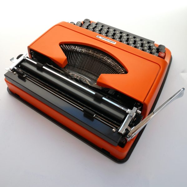 Orange Underwood 35 typewriter