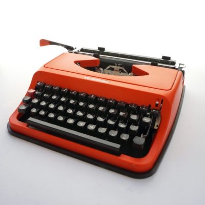 Orange Underwood 35 typewriter
