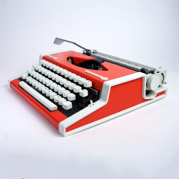 Olympia Traveller Typewriter Orange