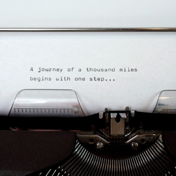 Black torpedo typewriter