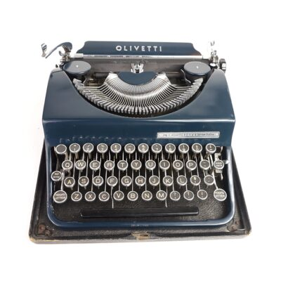 Blue Olivetti MP1 typewriter