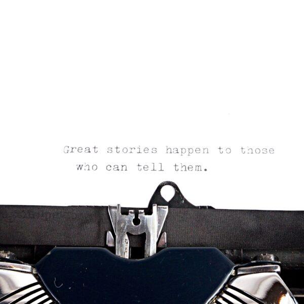 Blue Olivetti MP1 typewriter