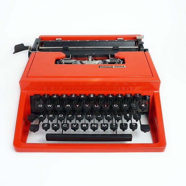 Red olivetti dora typewriter