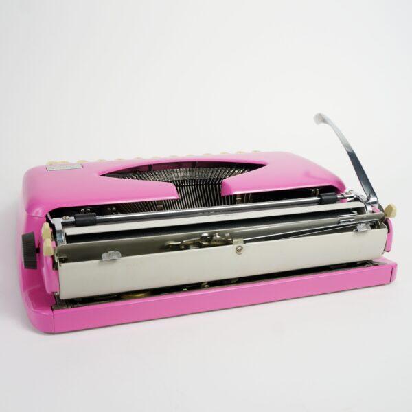 retro pink typewriter