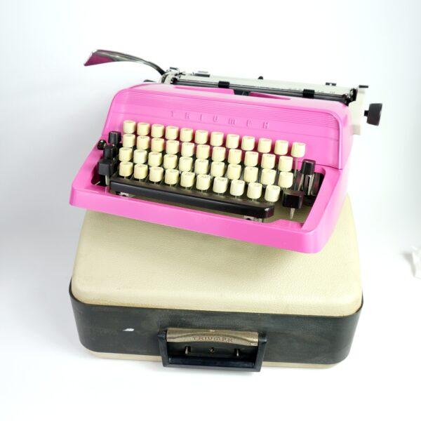 Pink Triumph Typewriter