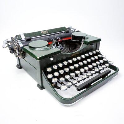 Green Royal Portable Typewriter