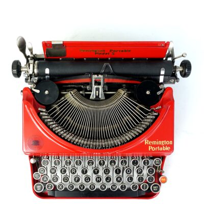red remington portable no.5 typewriter