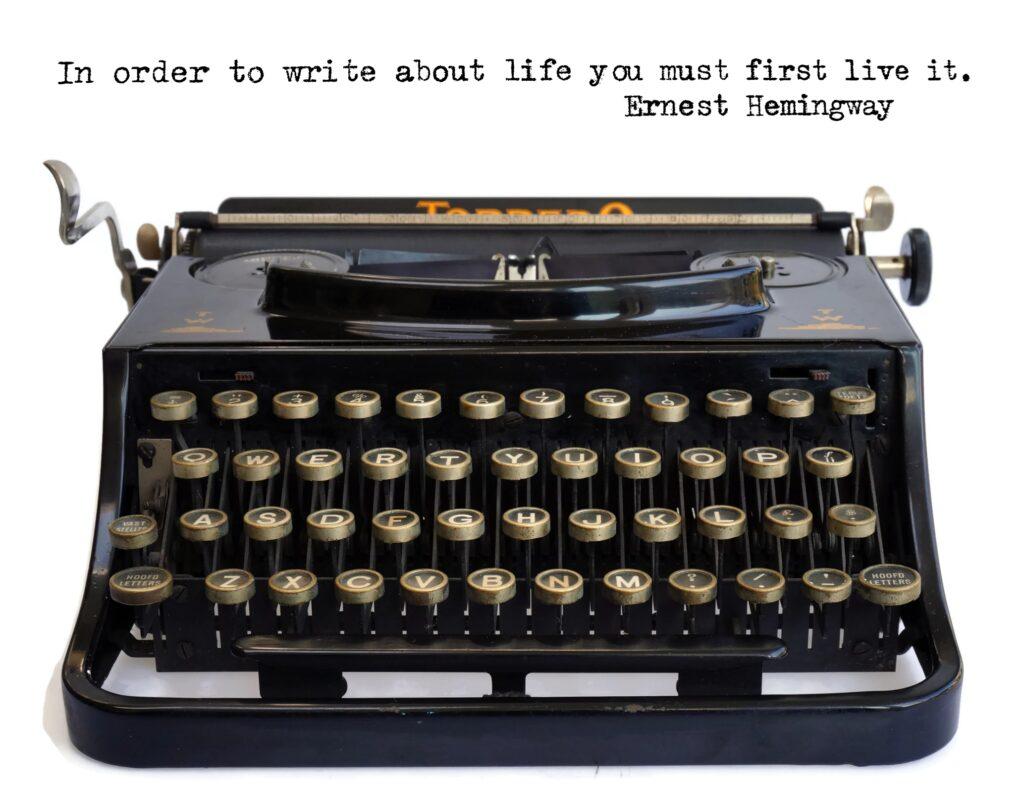 Ernest hemingway quotes - typewriter