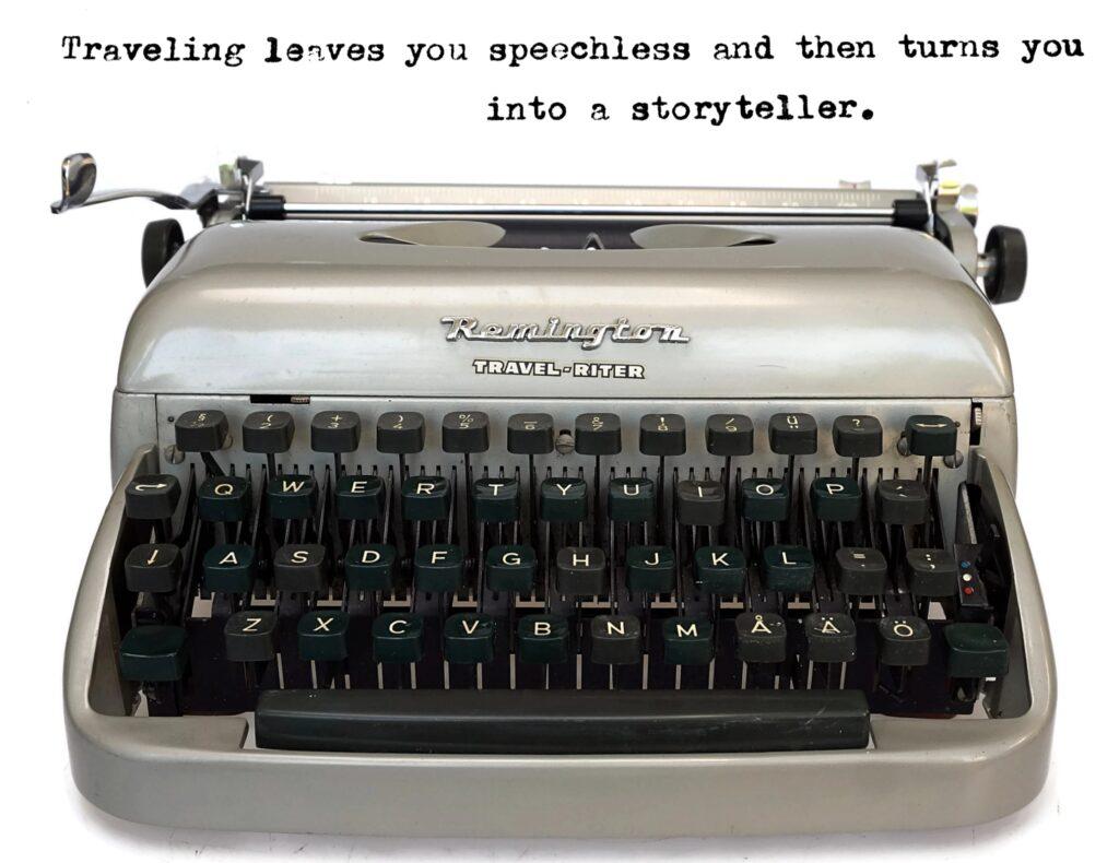 typewriter quotes - travelling