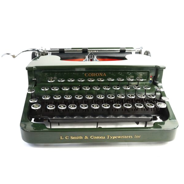 Green Smith-Corona Silent 1S Typewriter