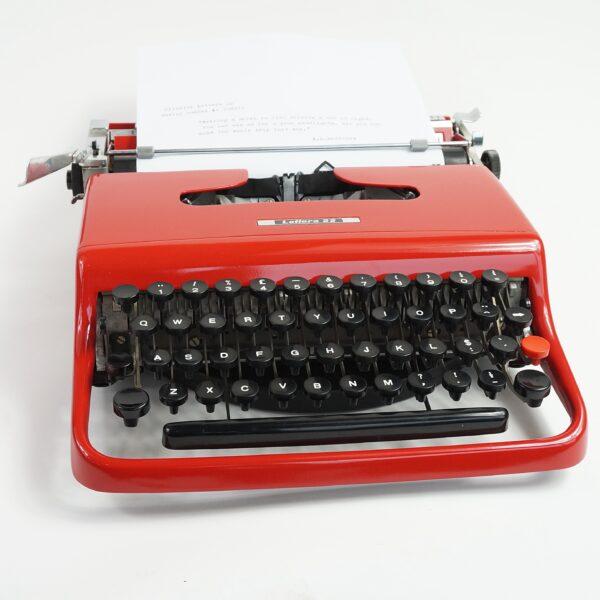 Red Olivetti Lettera 22 Typewriter