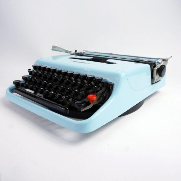 Blue Olivetti Lettera 22 Typewriter