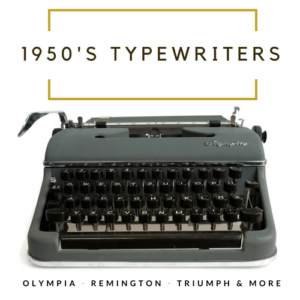 1950s typewriters