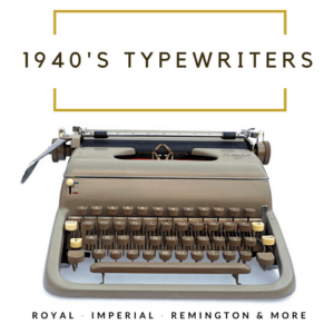 1940's Typewriters